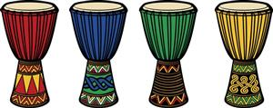 clip art of djembe drums