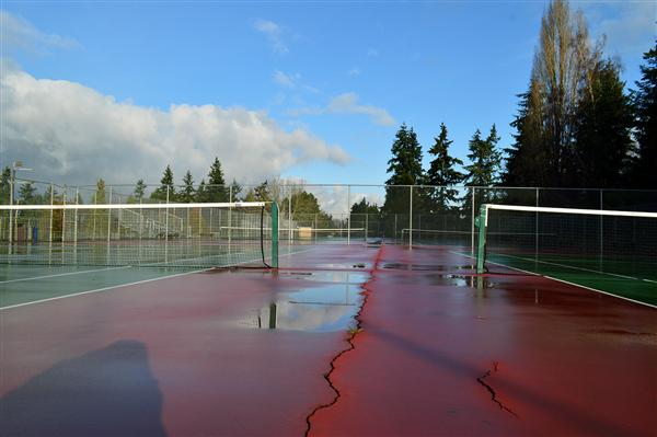 High School Tennis Court