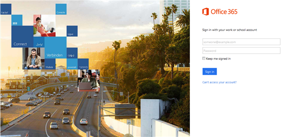 Office 365 login page