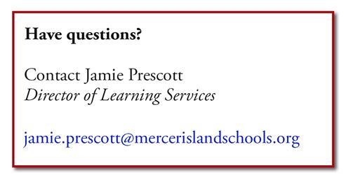 Contact Jamie Prescott, Director of Learning Services
