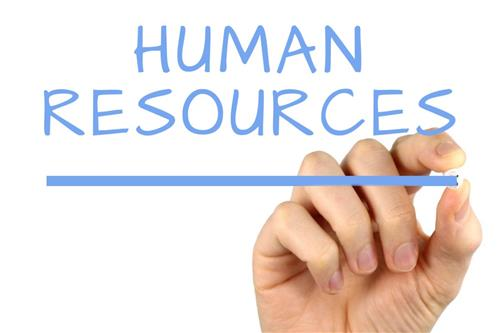 Human Resources written in dry erase marker