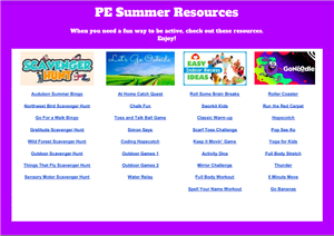 PE Summer Resources link