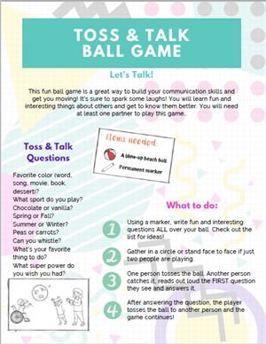 toss and talk game